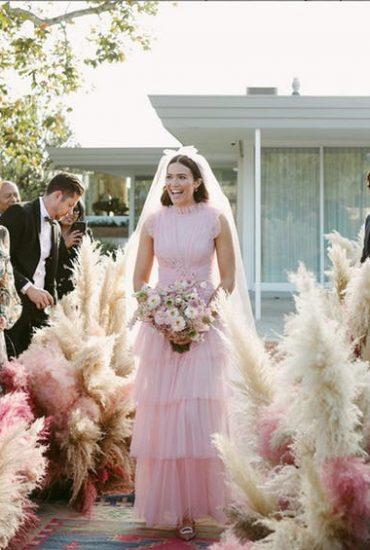 Casamento de Mandy Moore com inspiração boho chic